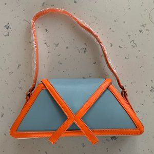 New Panelled Trapezoid Underarm Bag